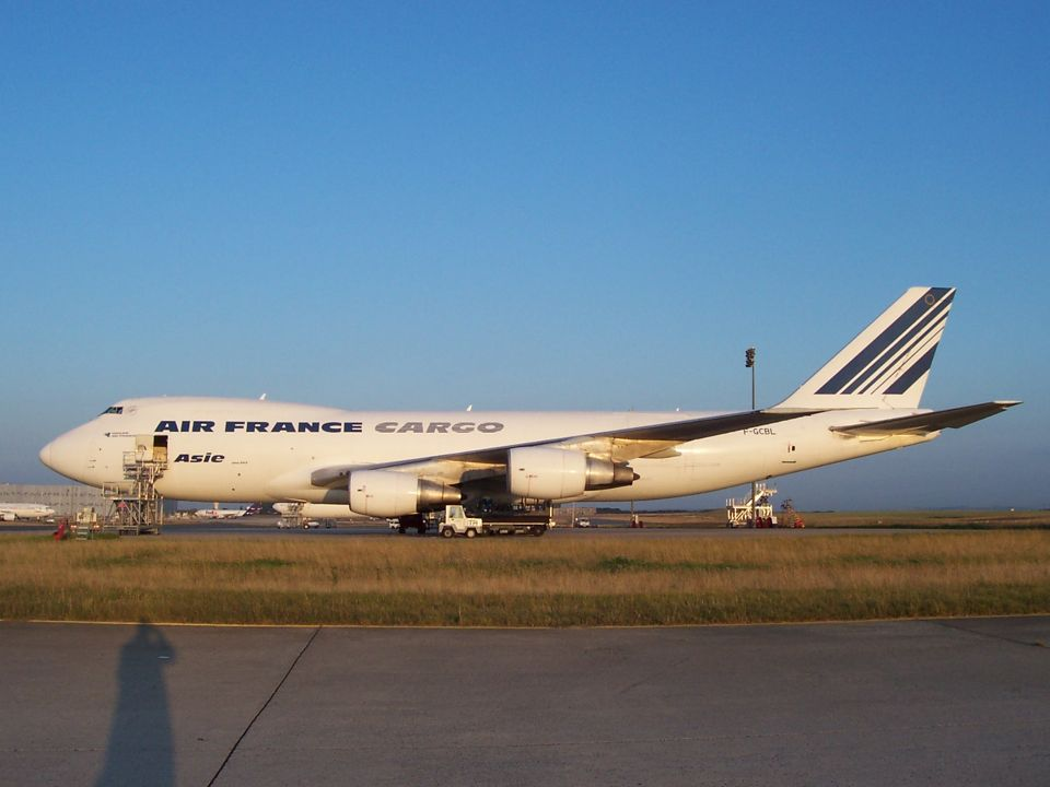 Photos des boeing 747 cargos d 39 air france l 39 a roport de for Interieur 747 air france