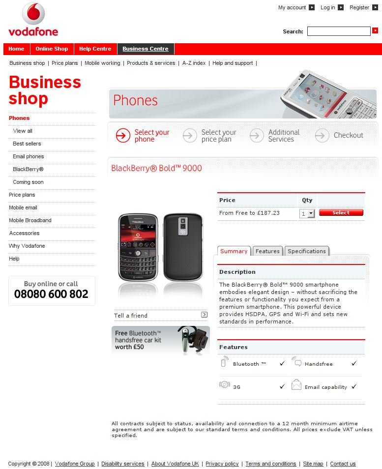 vodaphone business shop