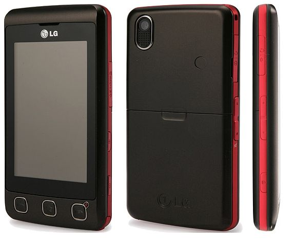 lg pr sente le kp500 cookie un t l phone portable tactile. Black Bedroom Furniture Sets. Home Design Ideas