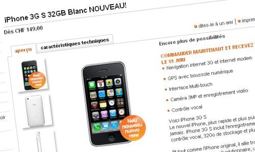 iphone 3gs orange suisse