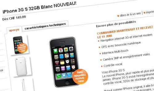 iphone 3gs orange suisse