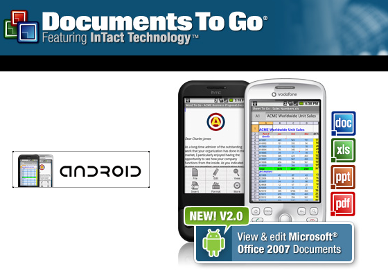 Android aura une version de documentstogo gratuite for Documents to go app android