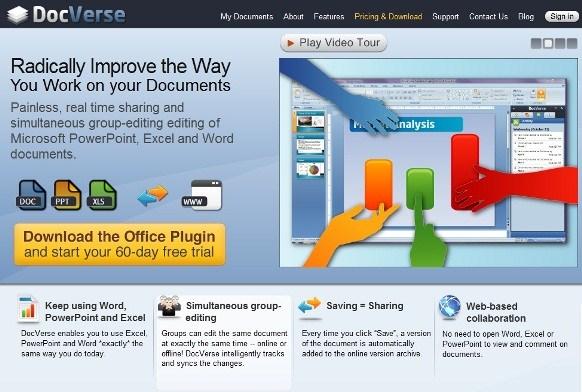 DocVerse_homepage