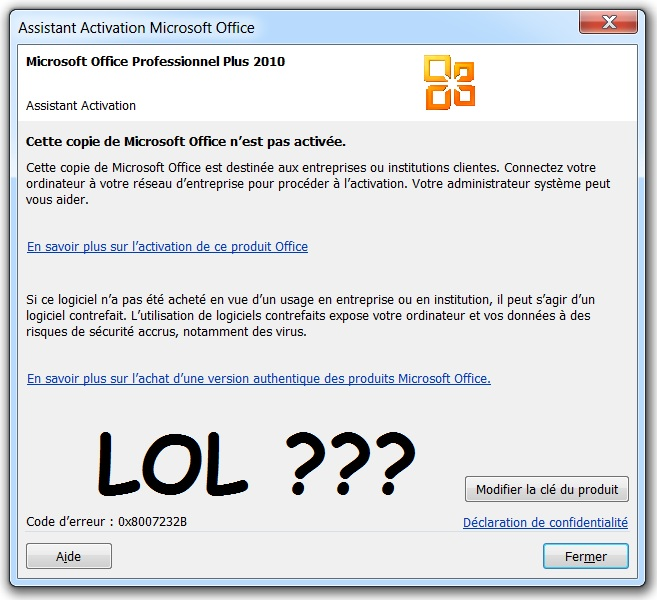 Comment retrouver la cle d activation office 2010 - Cle activation office pro 2010 ...