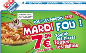Domino's Pizza : la carte complète en version HTML