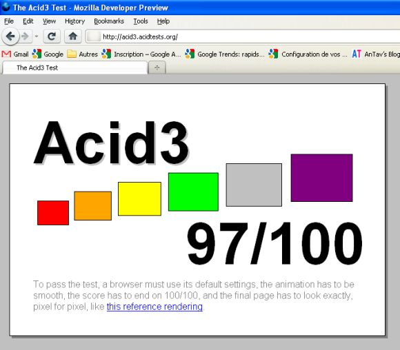 Firefox 3.7 Pre-Alpha Acid 3 Test 97100