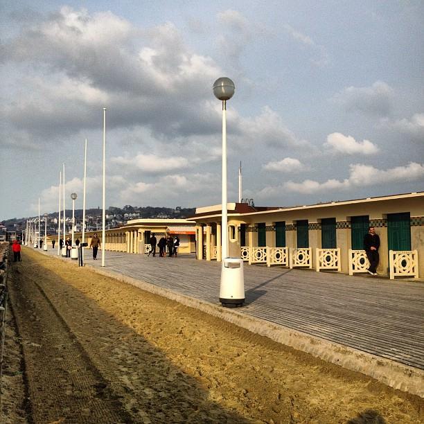La plage et les planches de Deauville