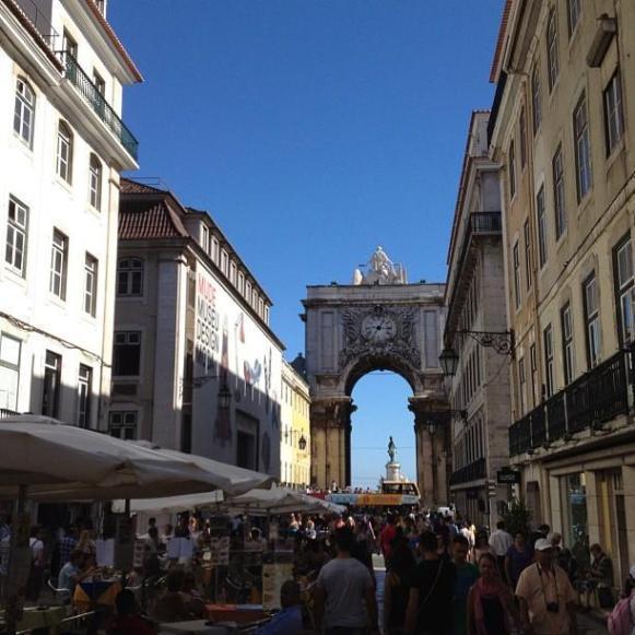 Lisbonne rue Augusta arche