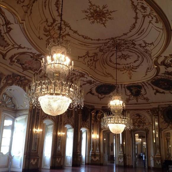 Palais royal de Queluz salle du Trone grande salle
