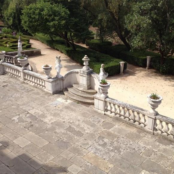 Palais royal de Queluz terrasse