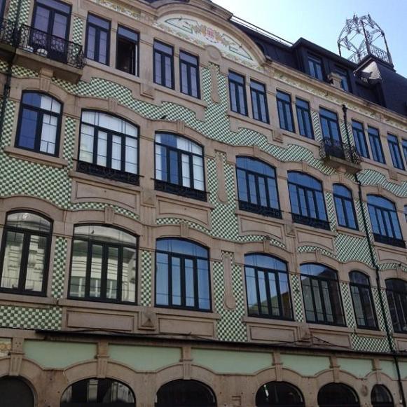 Mur immeuble Porto