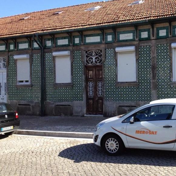 Porto maisons recouvertes de mosaïques de carrelage