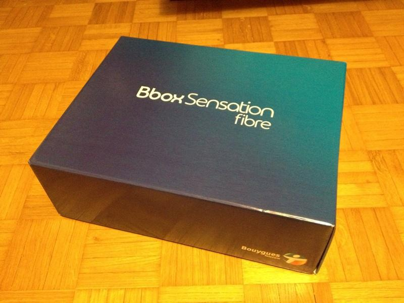Bbox Sensation Fibre deballage