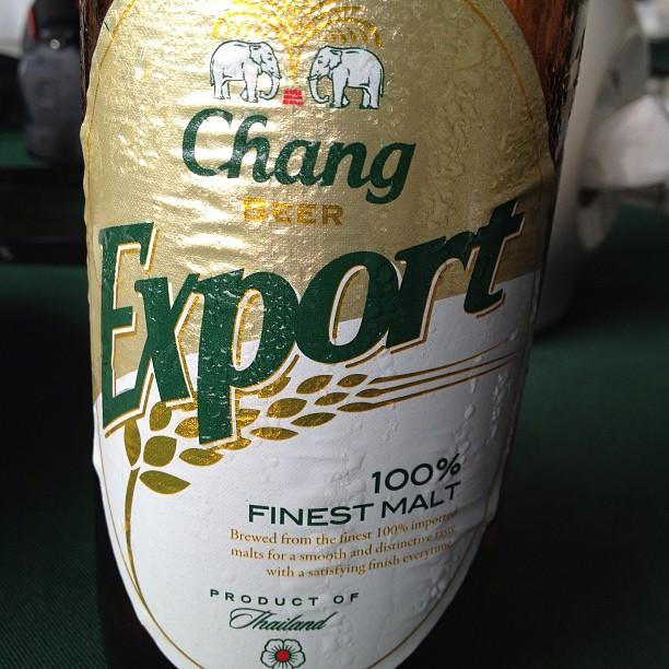 Thailande Ayutthaya biere chang