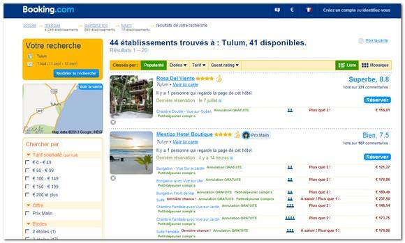 recherche hotels