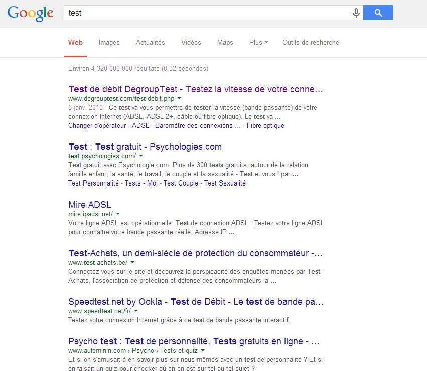 abtest recherche google