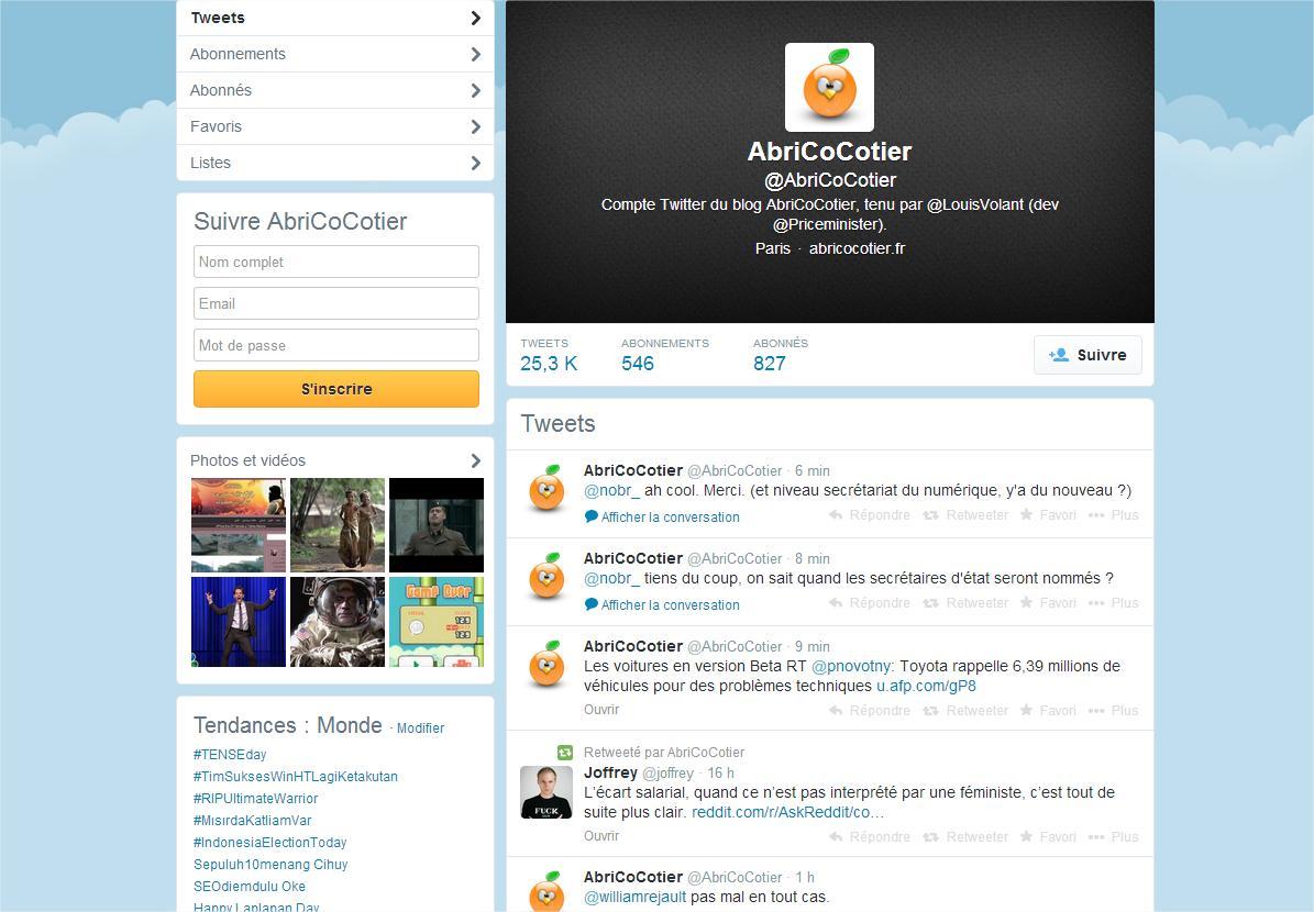 AbriCoCotier (AbriCoCotier) sur Twitter