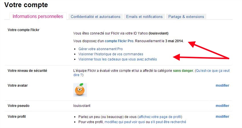Flickr Compte