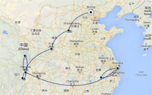 Faire une carte de votre itinéraire de voyage avec TravellersPoint