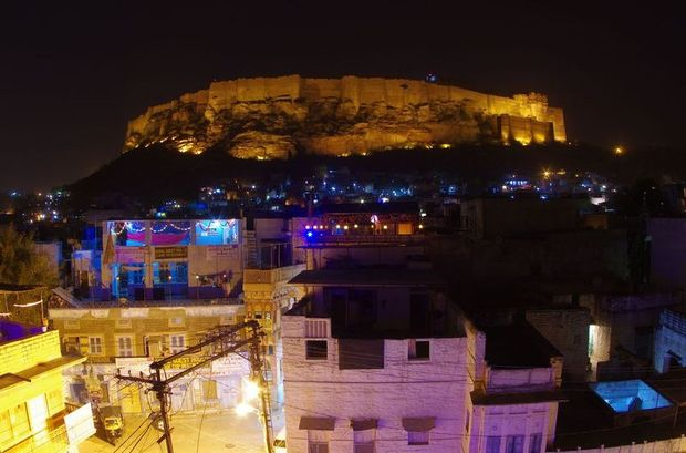 2014-03-11 Inde Jodhpur Fort nuit