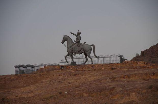2014-03-12 Inde Jodhpur Rao Jodha Ji Statue