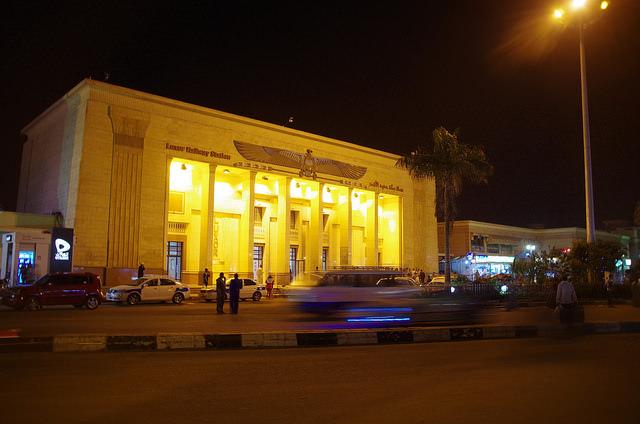 2014-11-13 Egypte Louxor Gare nuit