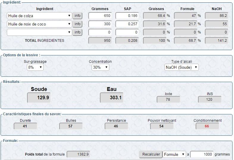 calculateur de saponification