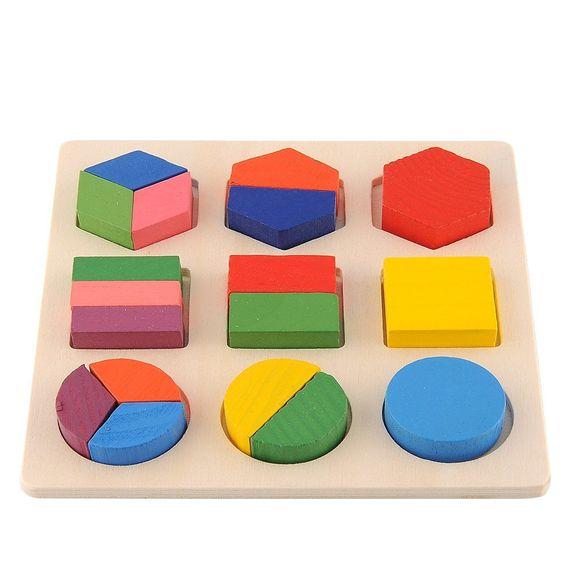 Blocs En Bois Puzzle De Géométrie