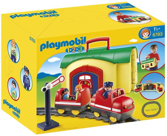 Playmobil - Train Avec Gare Transportable