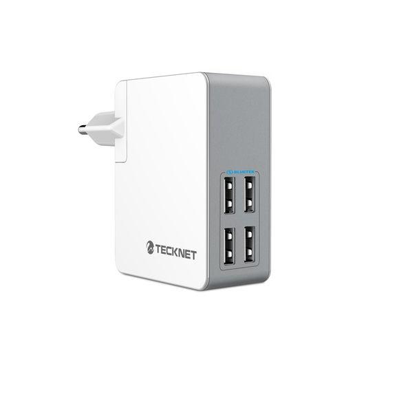 TeckNet 4-Ports Chargeur Secteur USB