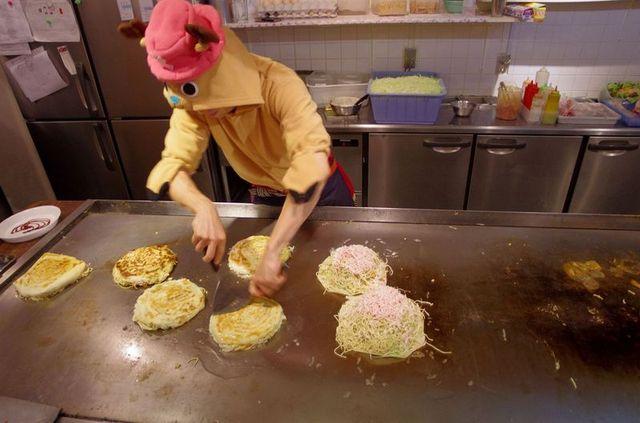 Japon - Hiroshima restaurant Toshinoya Okonomiyaki