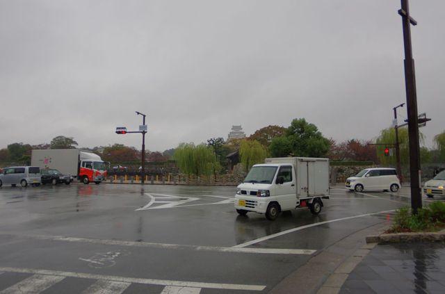 Japon - Himeji Chateau Pluie