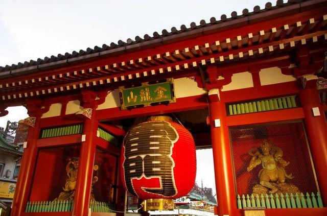Japon - Tokyo - temple Senso-ji Kamirarimon