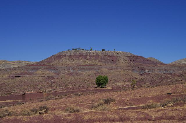 Bolivie - Sucre - Maragua Crater Montée vers la colline