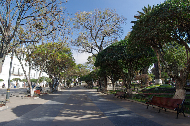 Jour 16 Bolivie Sucre Plaza 25 de Mayo