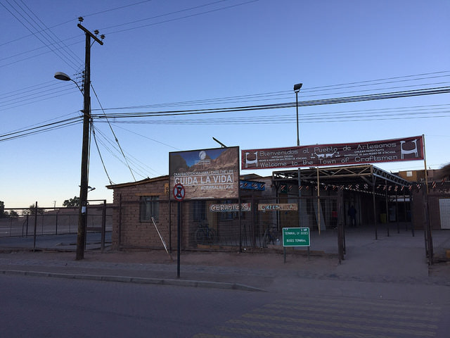 Jour 9 Chili San Pedro Atacama Terminal Buses