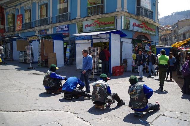 Bolivie Visite La Paz Mercado Lanza