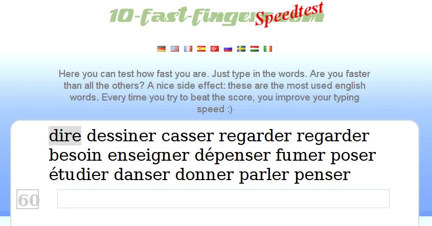 Speedtest - 10 Fast Fingers