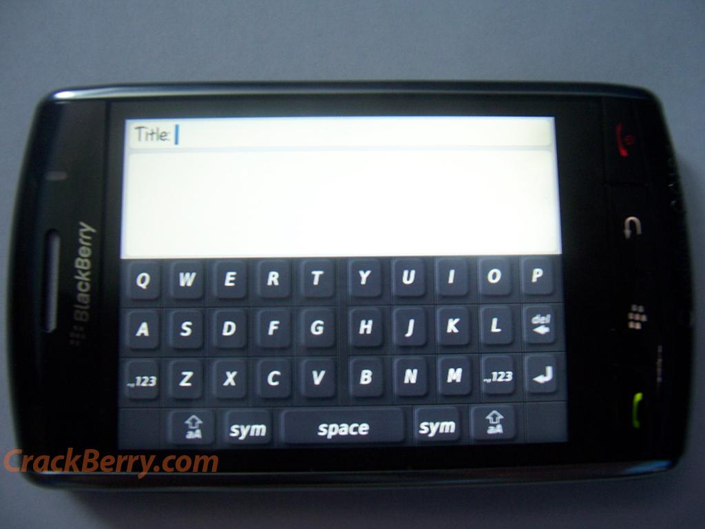 Phoo du Blackberry 9500 Thunder !