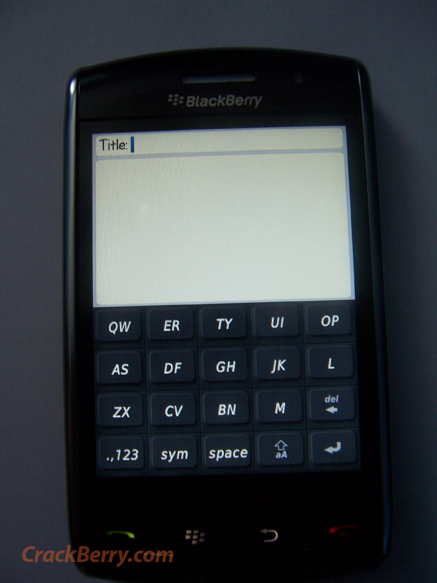 Phoo du Blackberry 9500 Thunder !