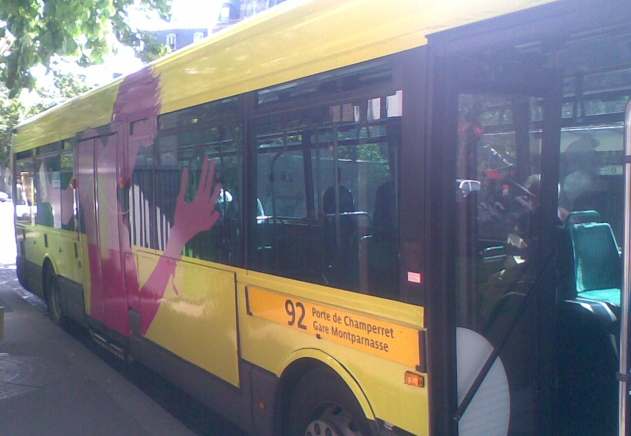 Bus Ipod Porte de Champerret !