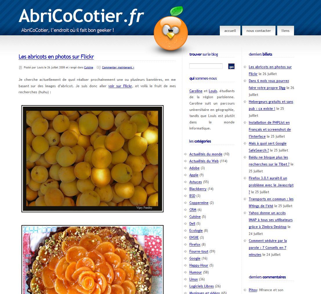 AbriCoCotier avec l'ancien thème
