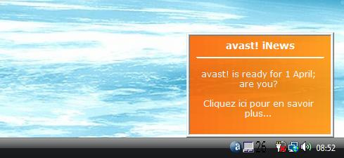 Avast! Is ready for the 1st avril. Are You ?