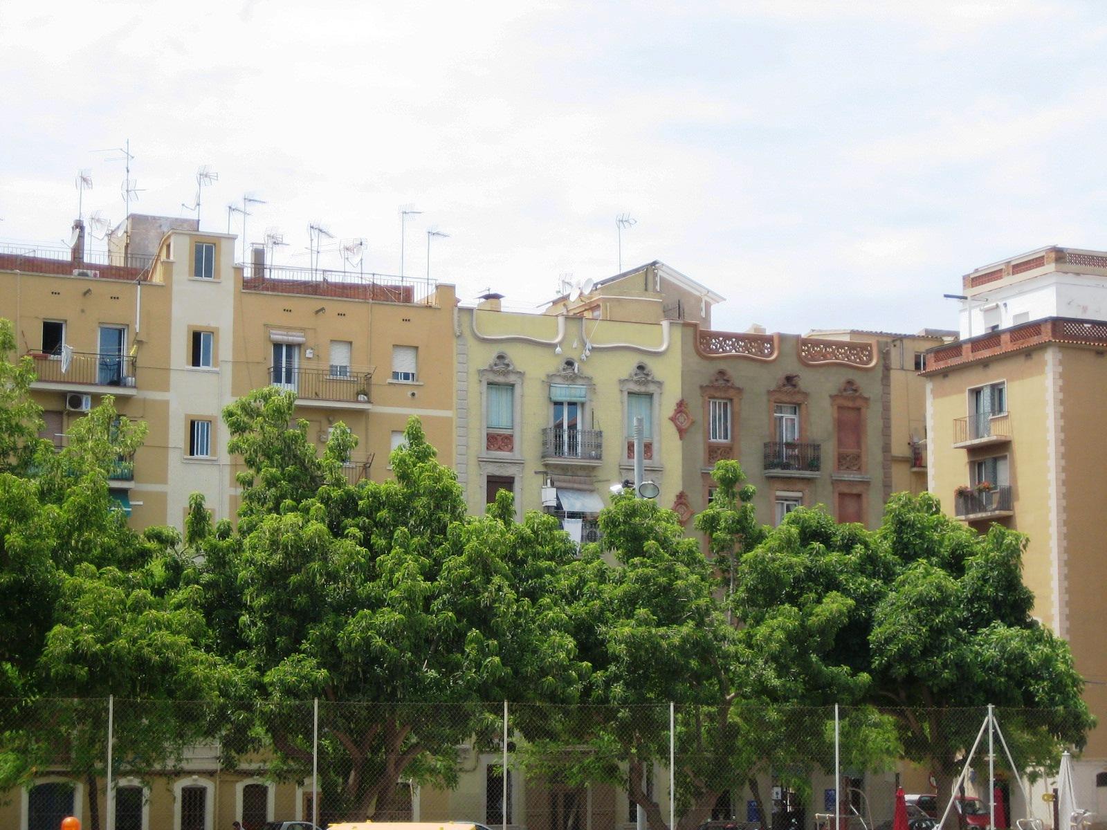 Immeubles du quartier de Barcelone : de La Barceloneta