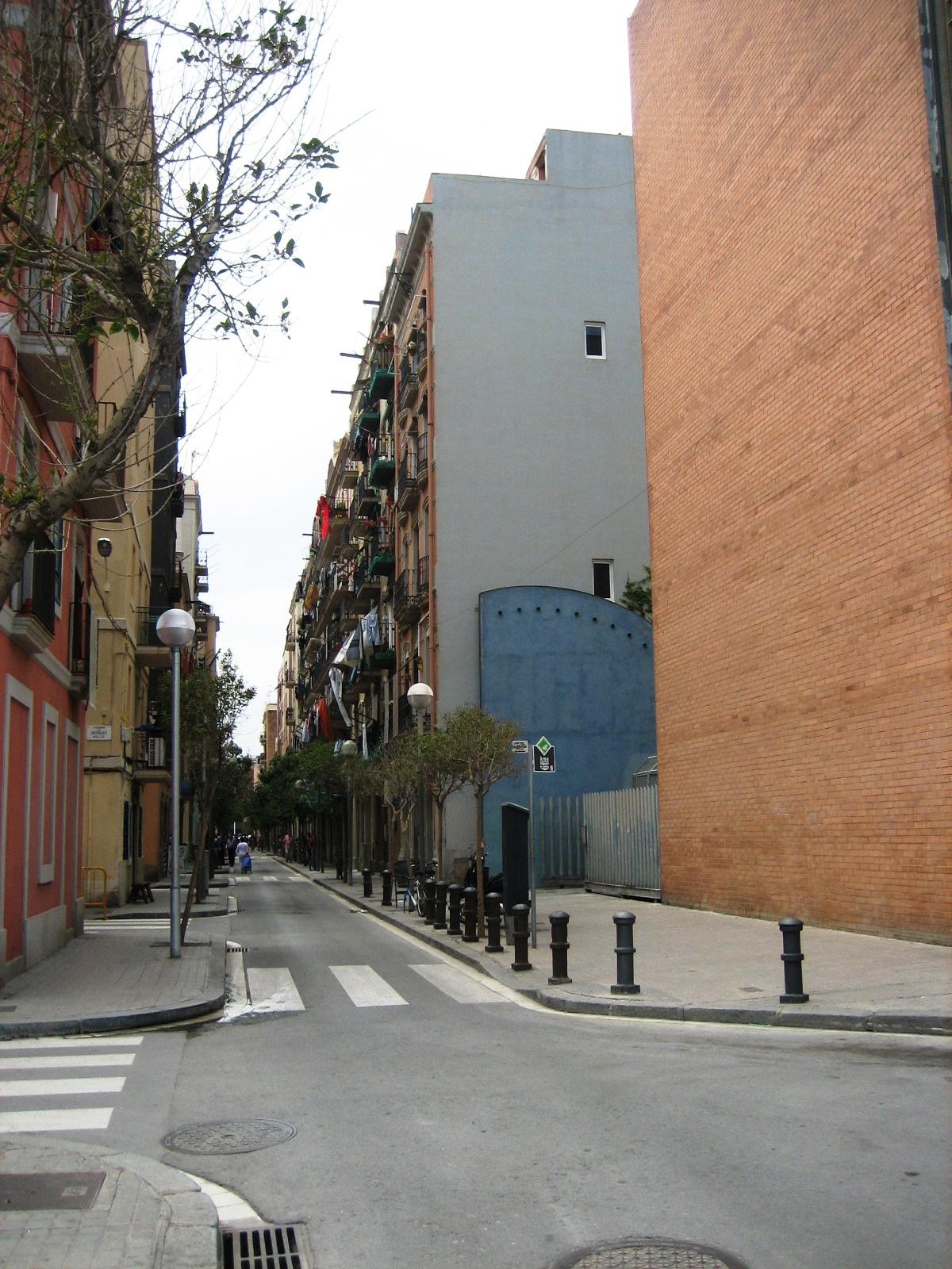 Rue touristique du quartier de Barcelone : La Barceloneta