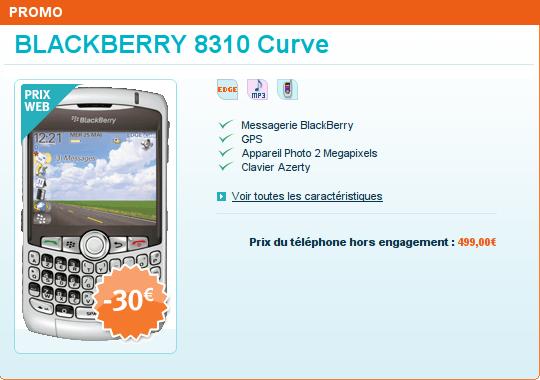 Blackberry Bold soldé chez Bouygues Telecom