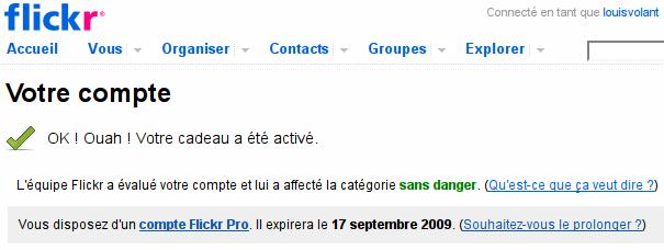 Compte Flickr Pro
