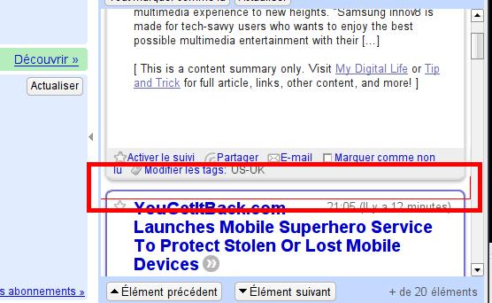 Firefox 3.0.1 Problème Javascript avec Google Reader ?