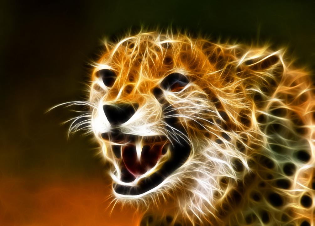 fond-ecran-guepard-cheetah-fractal