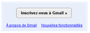 Bouton inscription Gmail